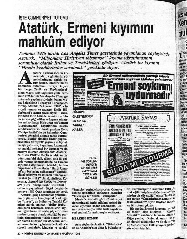 Atatürk ve Ermeni Soykırımı